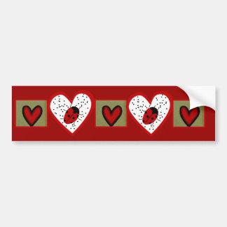 Valentine Ladybug Bumper Sticker