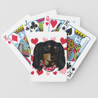 Valentine Long Haired Black Doxie Poker Deck