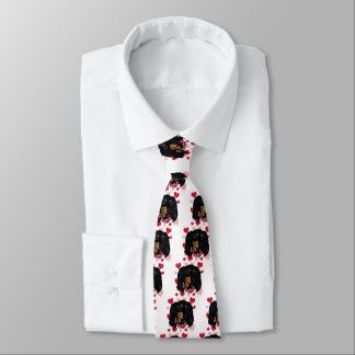 Valentine Long Haired Black Doxie Tie
