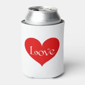 Valentine Love Heart Can Cooler wedding