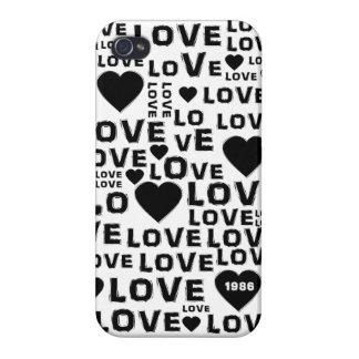 Valentine Love Heart Message iPhone 4 Case