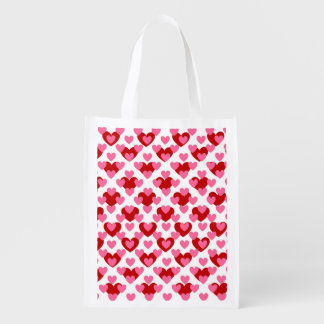 Valentine Love Heart Reusable Grocery Bag
