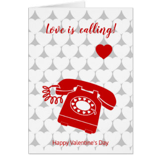 Valentine, love is calling card