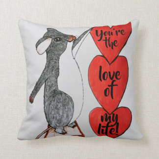 VALENTINE LOVE OF MY LIFE MOUSE pillow