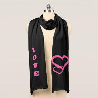 Valentine love scarf