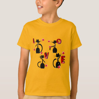 Valentine Love Tuxedo Kitties T-Shirt