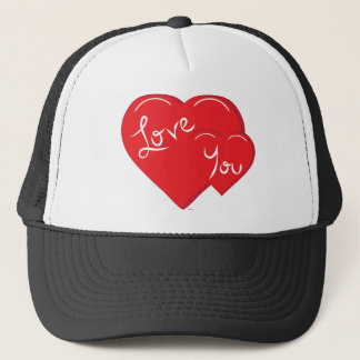 Valentine-Love You 2-Hearts Trucker Hat