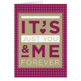 Valentine Love You & Me Forever Purple Card