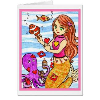 Valentine mermaid card
