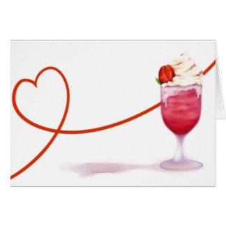 Valentine milkshake card