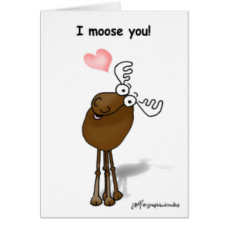 Valentine Moose Card