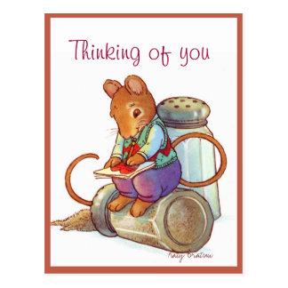 Valentine Mouse Love Letter Postcard