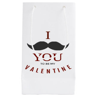 Valentine Mustache Gifts Small Gift Bag