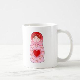 Valentine Nesting Doll Classic White Coffee Mug