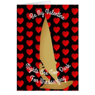 Valentine Nights Are Too Dark For Windsurfing Card