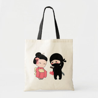 Valentine Ninja and Geisha Tote Bag