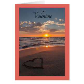 Valentine Ocean Shore Card