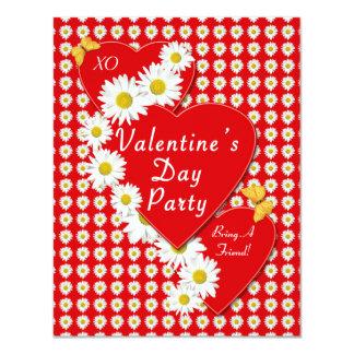 Valentine Party Daisies Small Invitation