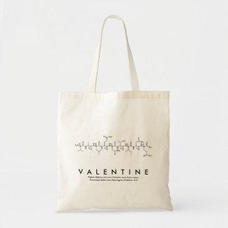 Valentine peptide name bag