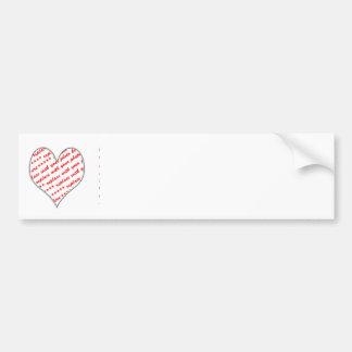 Valentine Photo Frame Bumper Sticker