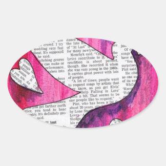 valentine  pigeon oval stickers