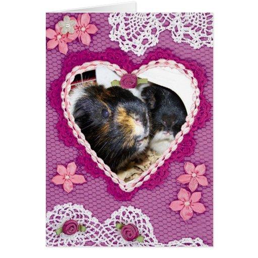 Valentine Piggies Greeting Card