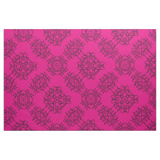 Valentine Pink Hearts Toss Print Fabric