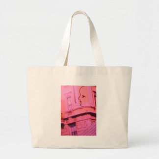 Valentine Pink Red Paris With Floating Girl Dream Large Tote Bag