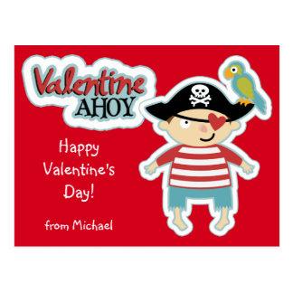Valentine Pirate Ahoy Postcard