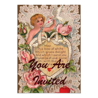 Valentine Poem With Lace Card