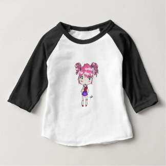 Valentine print of a chibi girl holding a heart baby T-Shirt
