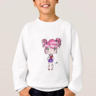 Valentine print of a chibi girl holding a heart sweatshirt