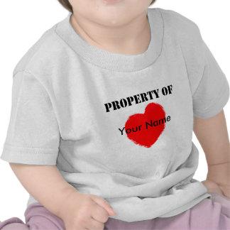 Valentine Property Of Tshirt