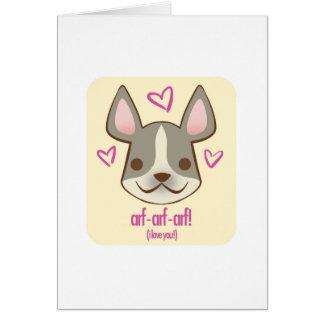 Valentine Pups - Frenchie: card