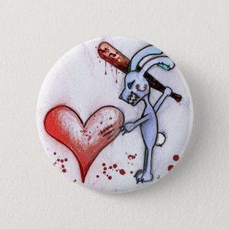 Valentine Rabbit 2 Inch Round Button