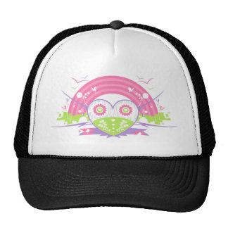 Valentine Rainbow Heart Hat