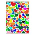 valentine rainbow hearts card