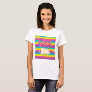 Valentine Rainbow Love Cats T-Shirt