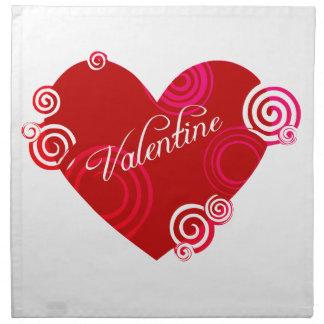 Valentine Red Heart Napkin