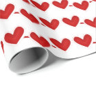 Valentine Red Heart pattern wrapping paper