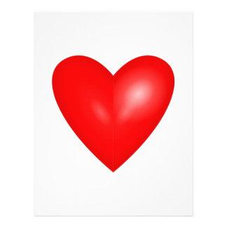 Valentine Red Heart Wedding Custom Flyer