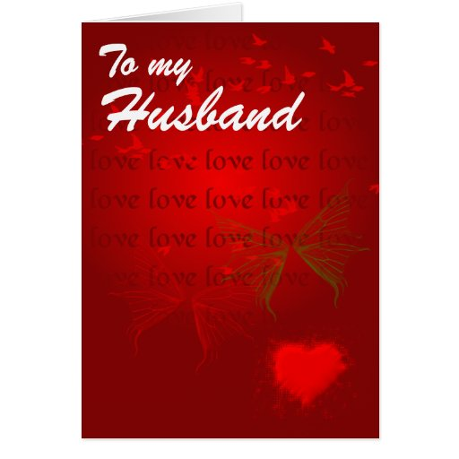 Valentine Red Hearts For Husband Greeting Card
