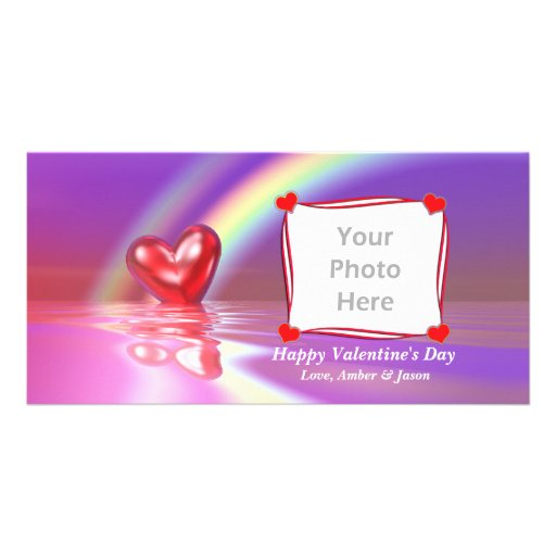 Valentine Reflections Photo Greeting Card