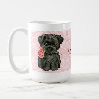 Valentine Rose Affenpinscher Classic White Coffee Mug