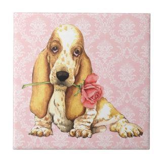 Valentine Rose Basset Tile