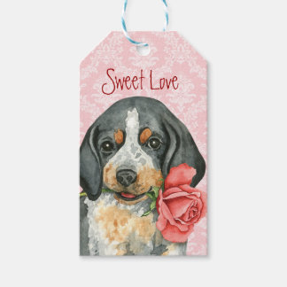 Valentine Rose Bluetick Gift Tags