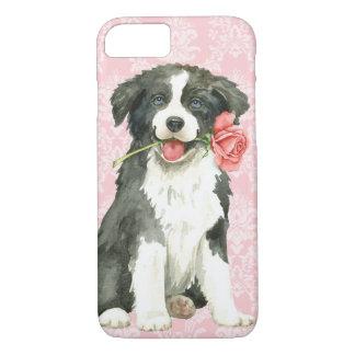 Valentine Rose Border Collie Case-Mate iPhone Case