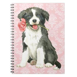 Valentine Rose Border Collie Notebook