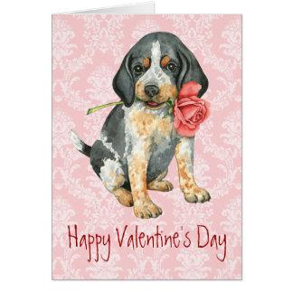Valentine Rose Borzoi Card