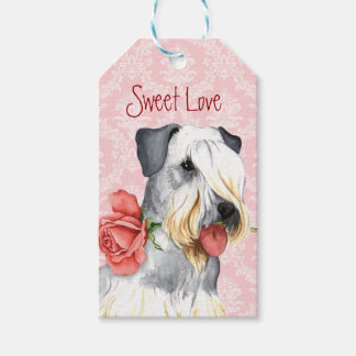 Valentine Rose Cesky Terrier Gift Tags